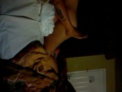 Amateur lesbians doing missionnary tribadism (shaky cam)