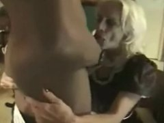 Monster BBC getting sucked by blonde