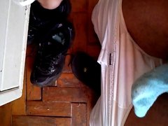 Wanking with mother dirty socks part 1