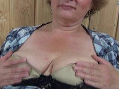 German Grandmother Grossmutter getting dirty
