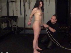Rope bondage of Honesty Cabellero in erotic domination