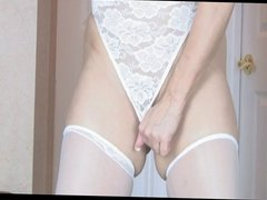 mature blonde fingering