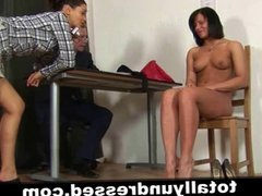 Dirty job interview for sexy secretary