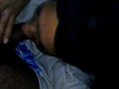 Heather sucking me while my girlfriend
