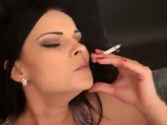 Sexy girl have sex while smoking