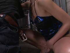 Sumire Matsu On Her Knees Begging For His Cum