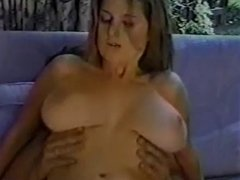 Big tit girl with stockings