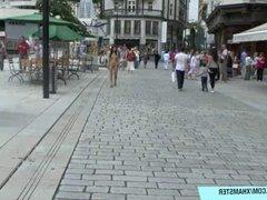 Sweet shy teen nikola naked on public streets