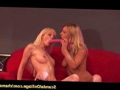 lesbian orgasm on public stage