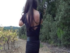 Outdoor black dress