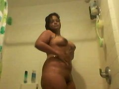 Mexican Cutie Plays Under The Shower
