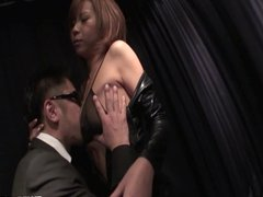 Busty Sumire Matsu On Her Knees To Suck Cock