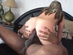 PAWG IR BBC anal in white thigh high boots
