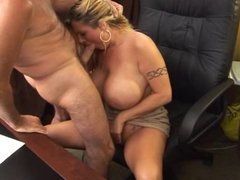 Busty blonde MILF gets fucked
