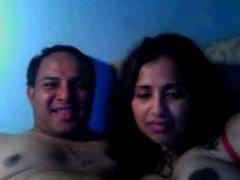 Desi husband wife on webcam