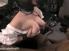 Interracial Tit Whipping - White Whore & Black Master