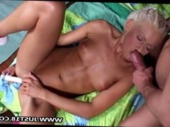 Blonde Girl Gets Ass Toy Hard Pounding