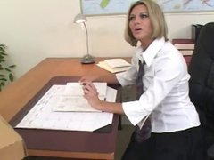 Hot Office Slut Fucked On Desk