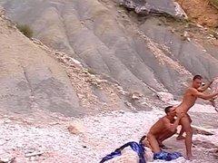 Hot couple on the beach