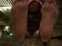ebony feet POV worship