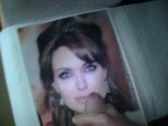 Angelina Jolie gets a facial