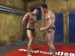 Muscle men have fun in the ring 1