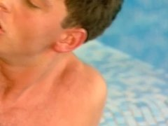 Hot threesome at the swimming pool