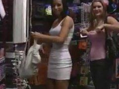 Girlfriends Flash in Store