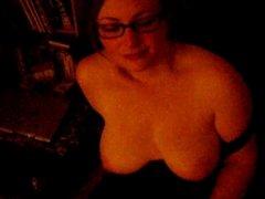 British amateur chubby GF teasing and sucks my cock...