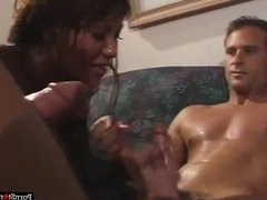 Busty Pornstar Ava Devine Takes On Two Cocks