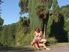 Hot chick fucked in the grass