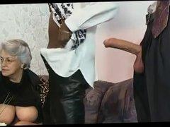 German Grandma In An Orgy