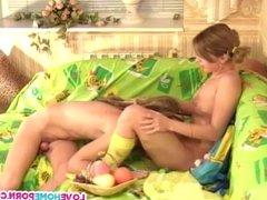Wild boyfriend loves to lick her wet pussy