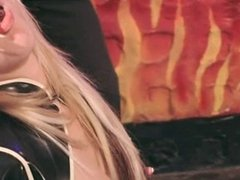 British slut Alicia Rhodes in a FFM threesome
