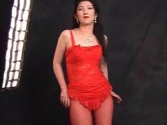 Escort mature asian kazakh woman shows her sexy body