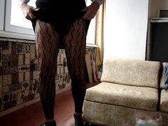 crossdresser in pantuhose