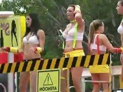 Voyeur candid carnival parade babes