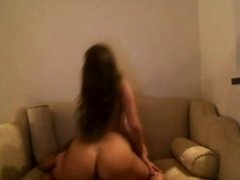 Big booty latina girl has sex on sofa