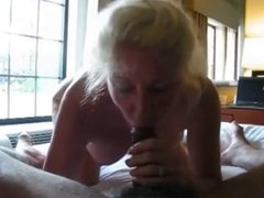 Blonde Mature Sucking BBC