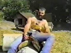 Hot Smoking Cowboy in Wild West (Vintage)