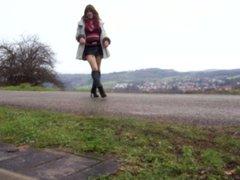Walking around as a girl