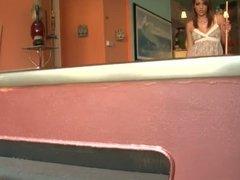 Melanie Rios Masturbates On Pool Table