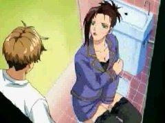 Girl caught using dildo in toilet