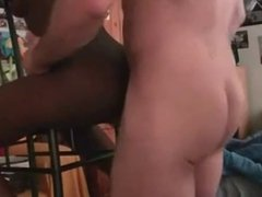 Super black bitch fucked in pussy and ass
