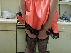 Sissy Ray in Satin Maid uniform