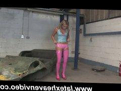 Natalia Forrest Strips in Latex