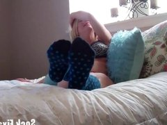 Come smell my stinky knee high socks