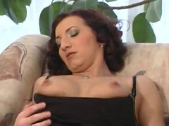 Brunette Chrissy Banks Plays With Her Pretty Pink Pussy