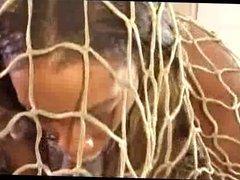 Mahlia Milan fucked through a net