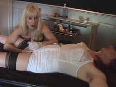 Madame C teases, shaves and penetrates MadamesAngelica